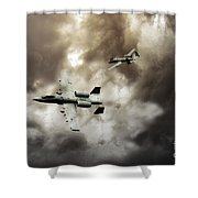 Tank Busters Shower Curtain