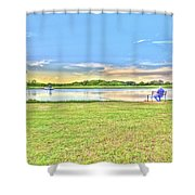 Tank Fishing - Karnes City, Tx Shower Curtain