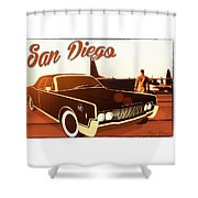 Tanker Lincoln Shower Curtain