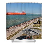 Tanker Transporting Crude Oil Shower Curtain