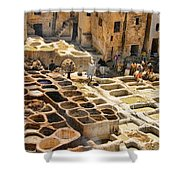 Tanneries Of Fes Morroco Shower Curtain