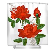 Tanners Rose Shower Curtain