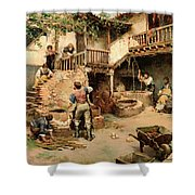 Tanners Workshop Shower Curtain