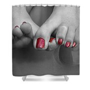Tantalizing Toes Shower Curtain