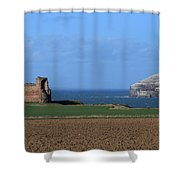 Tantallon Castle And The Bass Rock Shower Curtain