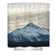 Tantalus Mountain Range Closeup Shower Curtain