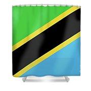 Tanzania Flag Shower Curtain