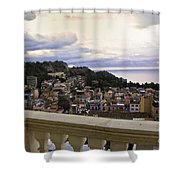 Taormina Balcony View 2 Shower Curtain
