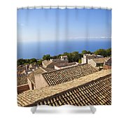 Taormina Rooftops Shower Curtain