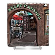 Taos Alley Cantina Shower Curtain