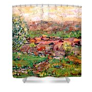Taos By The River Shower Curtain