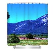 Taos Mountains Shower Curtain