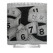 Tape Measure Shower Curtain