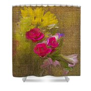 Tapestry Bouquet Shower Curtain