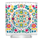 Flores Y Aves Shower Curtain