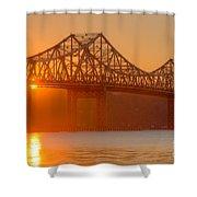 Tappan Zee Bridge At Sunset I Shower Curtain