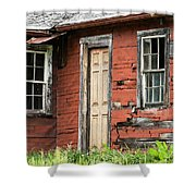 Tar-paper House Door And Windows Shower Curtain