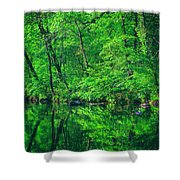 Tar River Reflection Shower Curtain