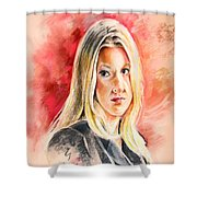 Tara Summers In Boston Legal Shower Curtain
