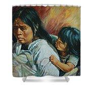 Tarascan Woman Shower Curtain