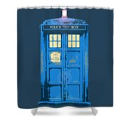 Tardis - Think Inside The Box Shower Curtain