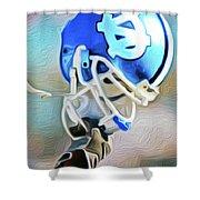 Tarheel Football Helmet Nixo Shower Curtain