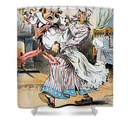 Tariff Cartoon, 1896 Shower Curtain