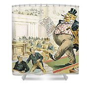 Tariff Lobbyist, 1897 Shower Curtain