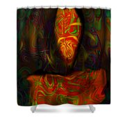 Tarot Candle Shower Curtain