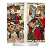 Tarot Cards, C1700 Shower Curtain