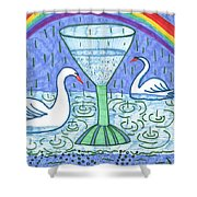 Tarot Of The Younger Self Ace Of Cups Shower Curtain