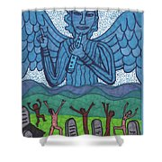 Tarot Of The Younger Self Judgement Shower Curtain