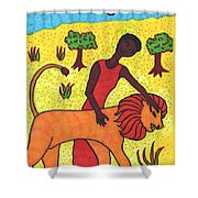 Tarot Of The Younger Self Strength Shower Curtain