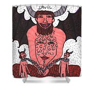 Tarot Of The Younger Self The Devil Shower Curtain
