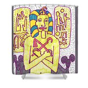 Tarot Of The Younger Self The Emperor Shower Curtain