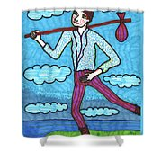 Tarot Of The Younger Self The Fool Shower Curtain