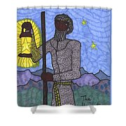 Tarot Of The Younger Self The Hermit Shower Curtain