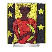 Tarot Of The Younger Self The High Priestess Shower Curtain