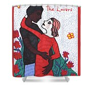 Tarot Of The Younger Self The Lovers Shower Curtain