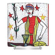Tarot Of The Younger Self The Magician Shower Curtain