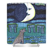 Tarot Of The Younger Self The Moon Shower Curtain