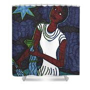 Tarot Of The Younger Self The Star Shower Curtain