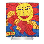 Tarot Of The Younger Self The Sun Shower Curtain