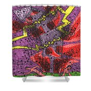 Tarot Of The Younger Self The Tower Shower Curtain