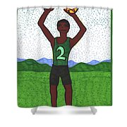 Tarot Of The Younger Self Two Of Pentacles Shower Curtain