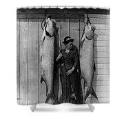 Tarpon Fishing 19th Century  Shower Curtain