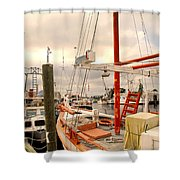 Tarpon Springs Harbor Shower Curtain