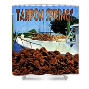 Tarpon Springs Postcard Shower Curtain
