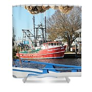 Tarpon Springs Shrimp Boat Shower Curtain