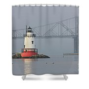 Tarrytown Lighthouse And Tappan Zee Bridge I Shower Curtain